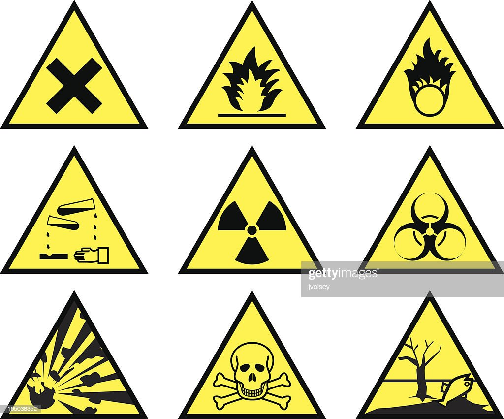 Chemical Hazard Warning Triangles Vector Art Getty Images