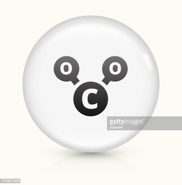 CO2 Chemical icon on white round vector button