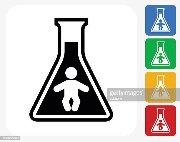 chemical infant icon flat graphic design - artificial insemination stock illustrations