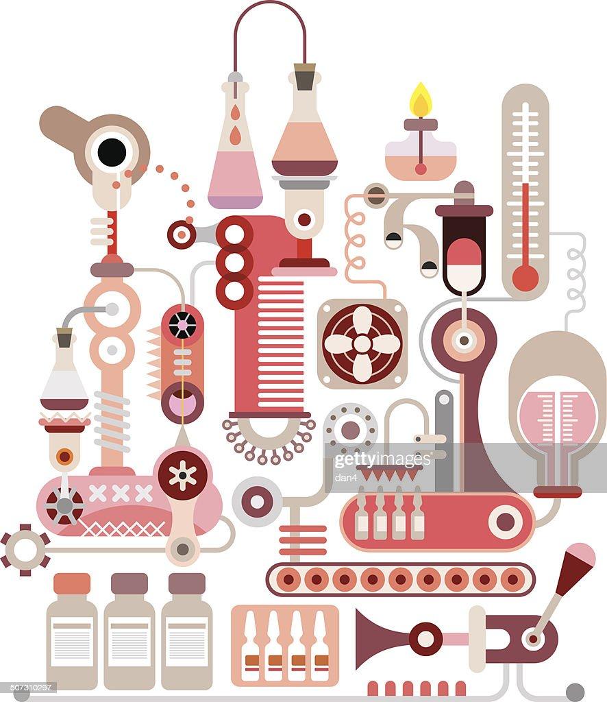 Chemical Laboratory vector illustration