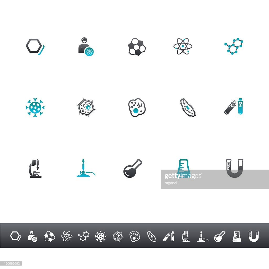 Chemistry And Biology Icons | Blue Grey