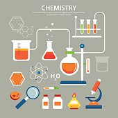 chemistry background education concept flat design
