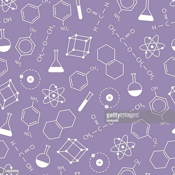 chemistry background - chemical formula stock illustrations