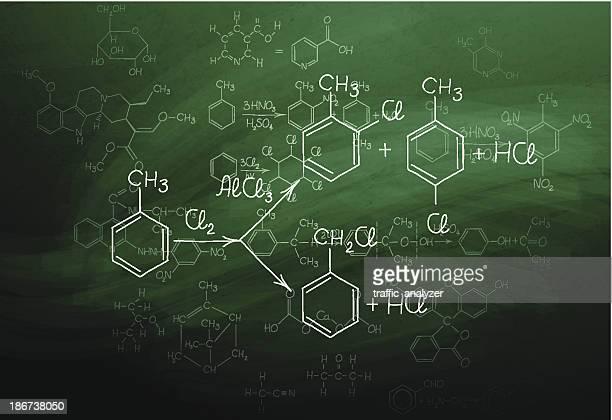 chemistry blackboard - chemistry stock illustrations