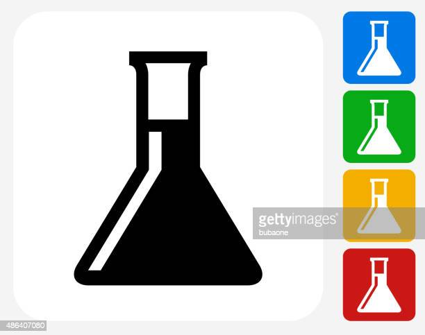 Chemistry Flask Icon Flat Graphic Design