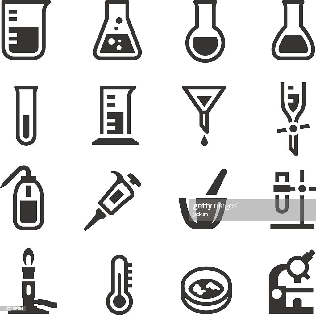 Chemistry Lab Icons Set 1 : stock illustration