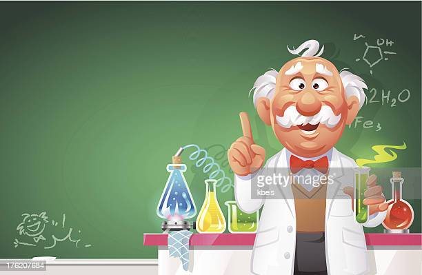 chemistry lesson - professor stock illustrations, clip art, cartoons, & icons