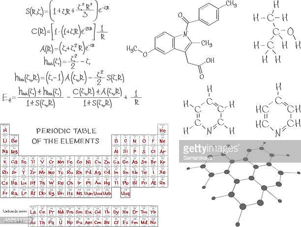 chemistry - molecular structure stock illustrations