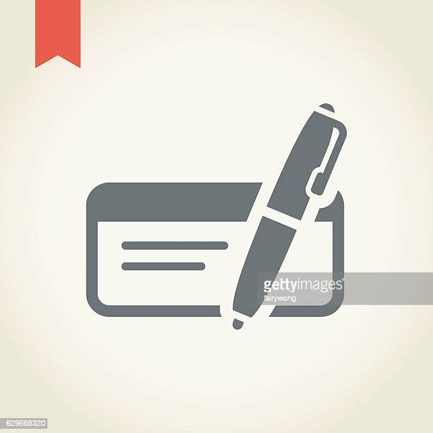 cheque icon - cheque stock illustrations, clip art, cartoons, & icons