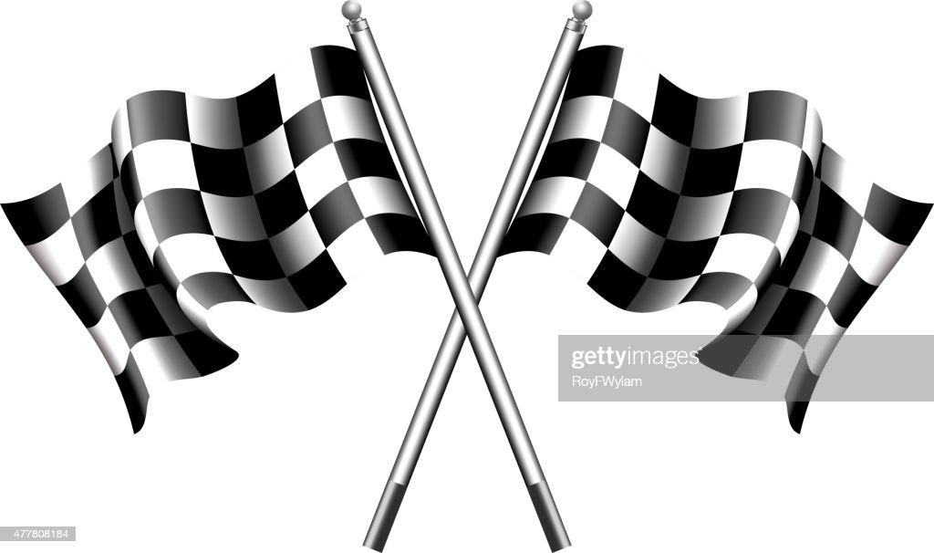Chequered, Checkered Flags Motor Racing