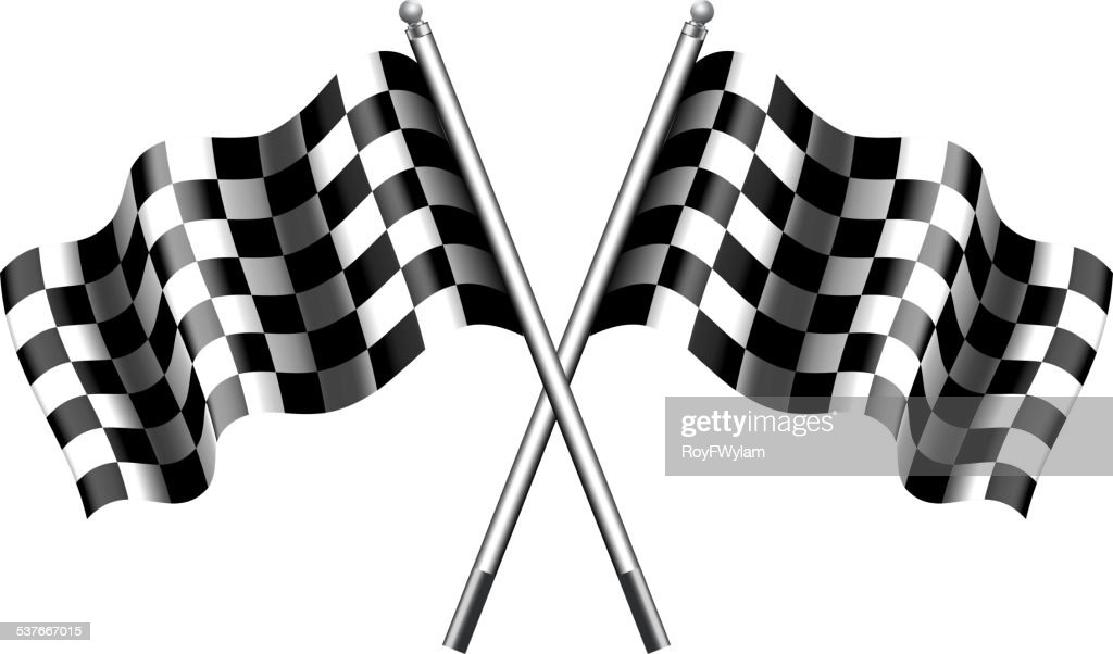 Chequered Checkered Flags Motor Racing