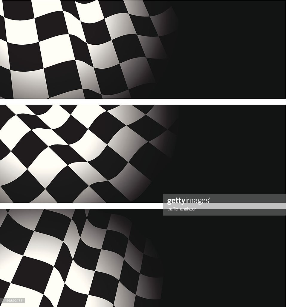 Chequered flags banners