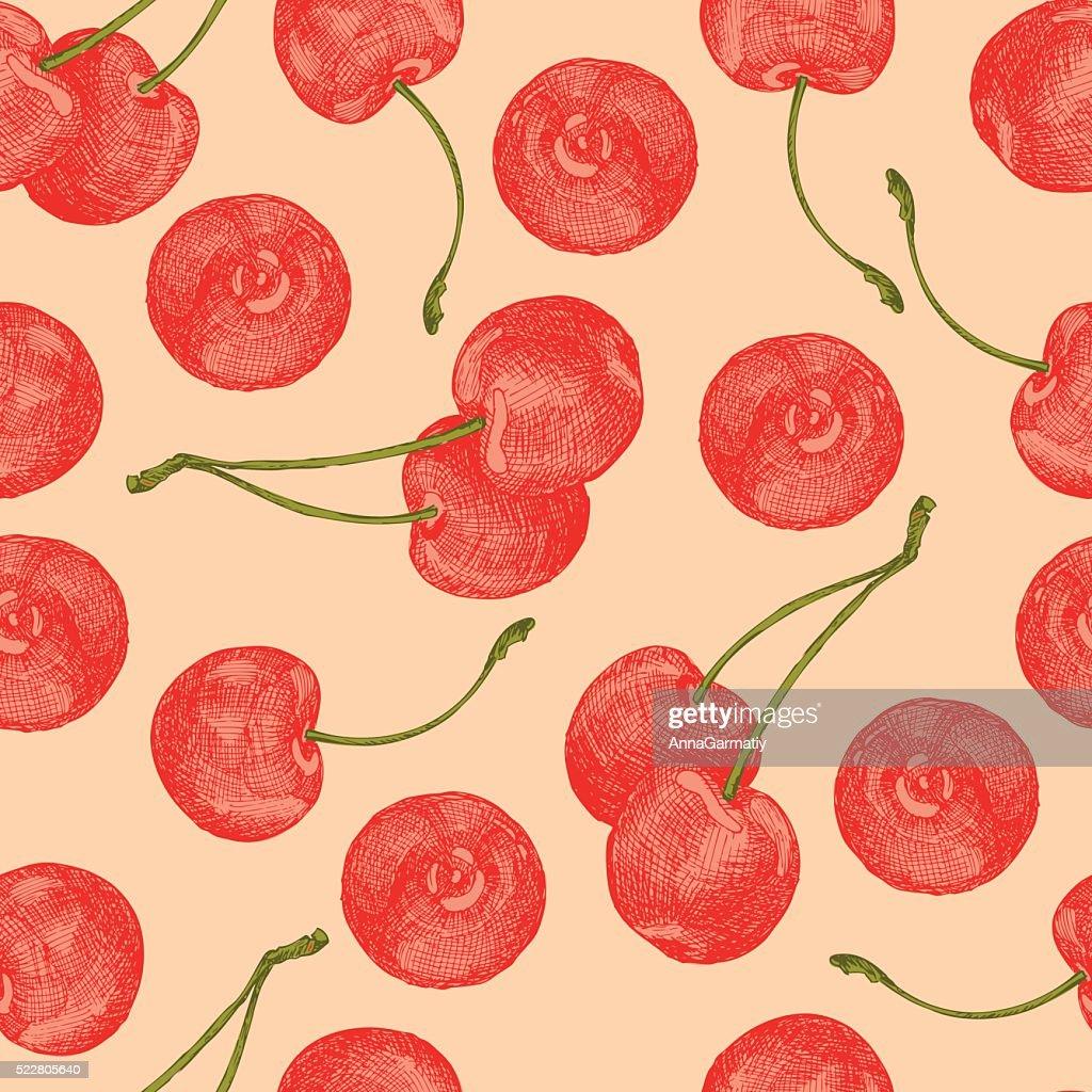 Cherries seamless