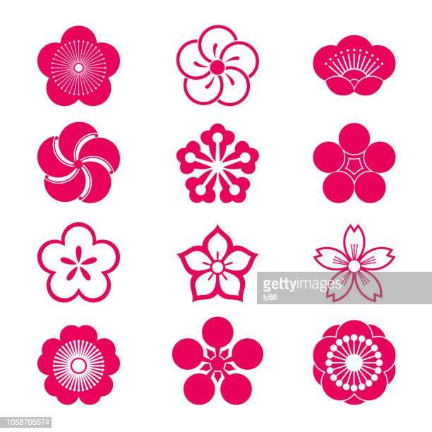Kirschblüte-Symbole