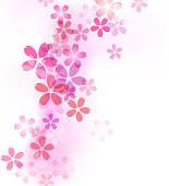 Cherry blossom pattern background material
