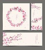 cherry blossom realistic vector