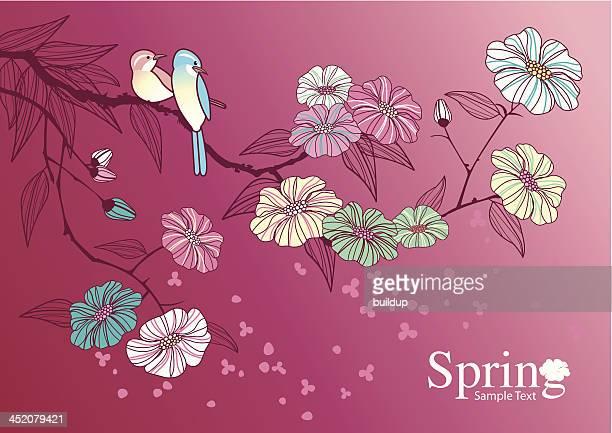 ilustraciones, imágenes clip art, dibujos animados e iconos de stock de flor de cerezo - pedo