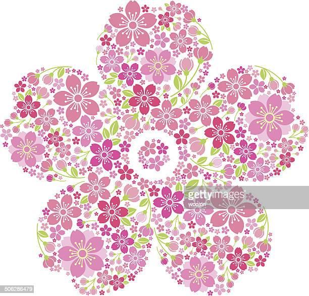 60点の桜のイラスト素材クリップアート素材マンガ素材アイコン素材