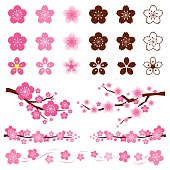 Cherry Blossoms or Sakura flowers Ornament