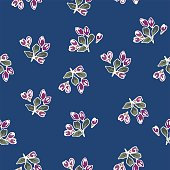 Cherry buds floral pattern