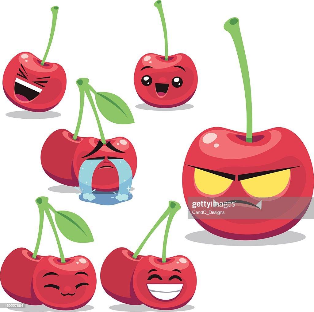 Cherry Cartoon Set B : Vector Art