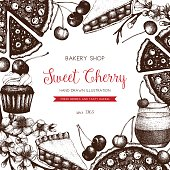 Cherry dessert menu design