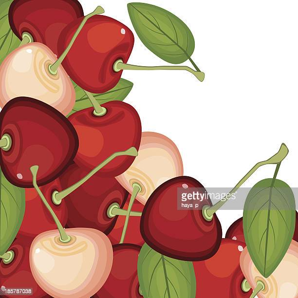cherry on white  background - marmalade stock illustrations, clip art, cartoons, & icons