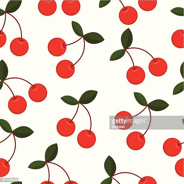 cherry seamless background - cherry stock illustrations