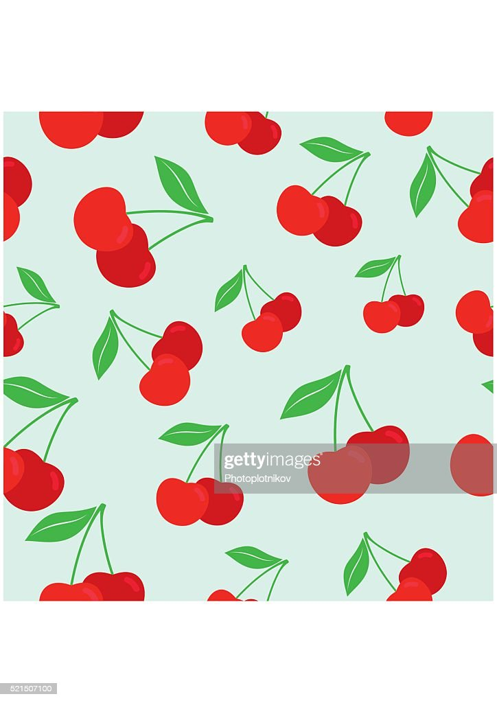 Cherry seamless pattern. Texture for textile, wallpaper, wrappings
