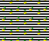 Cherry. Seamless pattern with yellow  sweet cherry berries on stripes background
