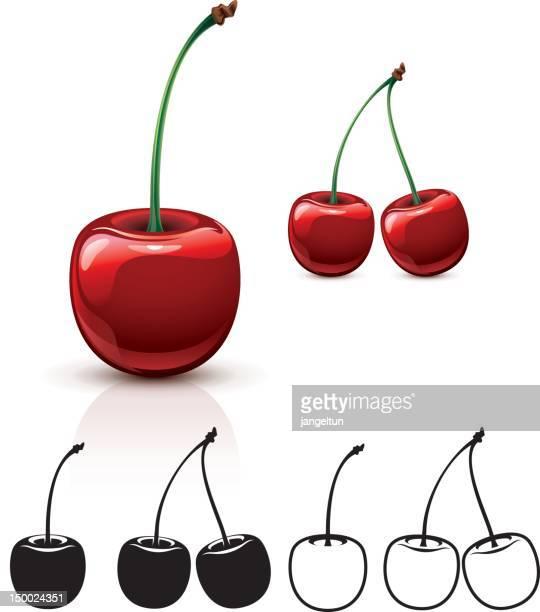 cherry - cherry stock illustrations