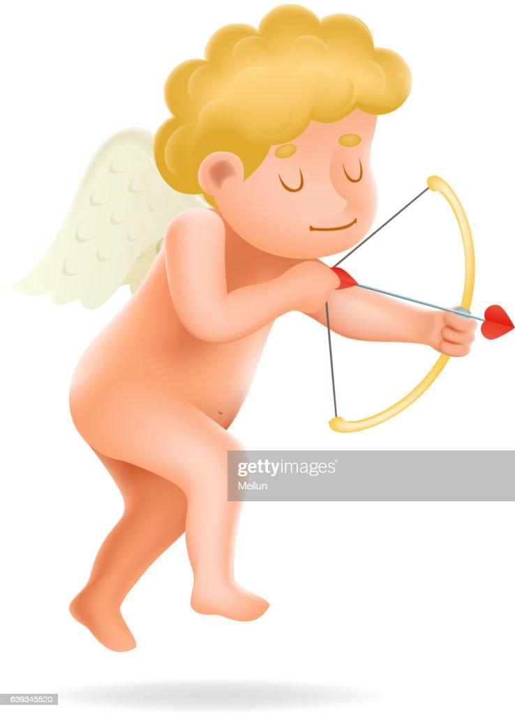 Cherub Baby Boy Angel Child Cartoon Character Realistic 3d Icon