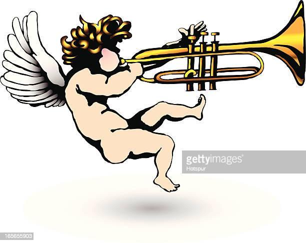 Querubín Soplando trompeta
