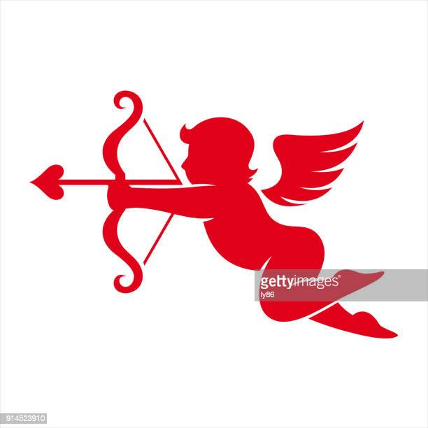 stockillustraties, clipart, cartoons en iconen met cherub, cupido - cupidon