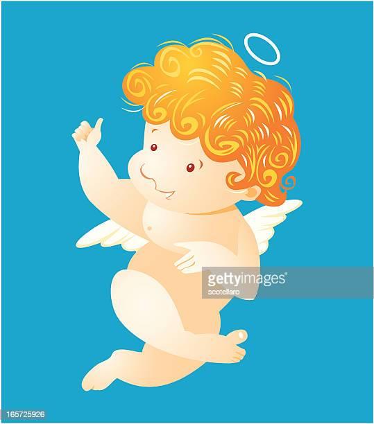 illustrations, cliparts, dessins animés et icônes de chérubin - cupidon humour