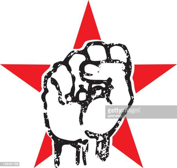 ches grunge fist - punk person stock illustrations, clip art, cartoons, & icons