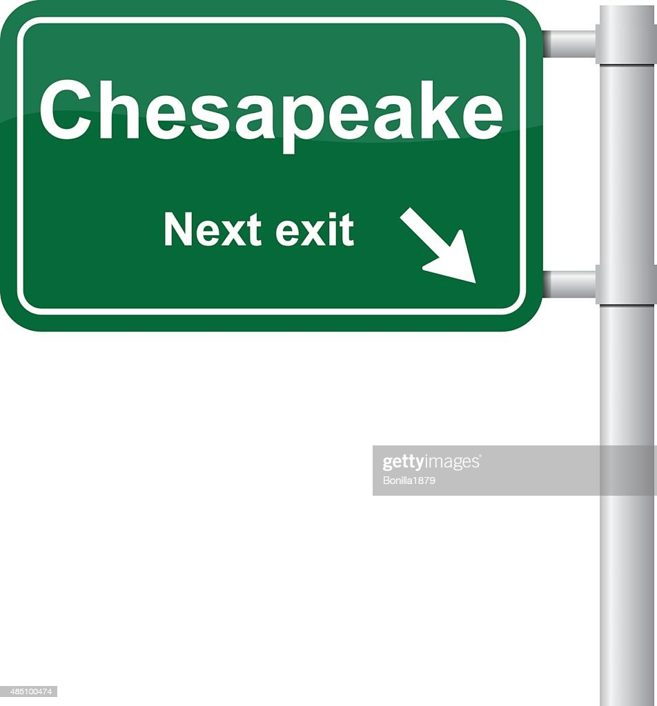 Chesapeake next exit green signal vector