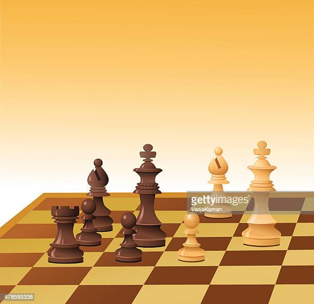De ajedrez en Checkmate negro con cama King