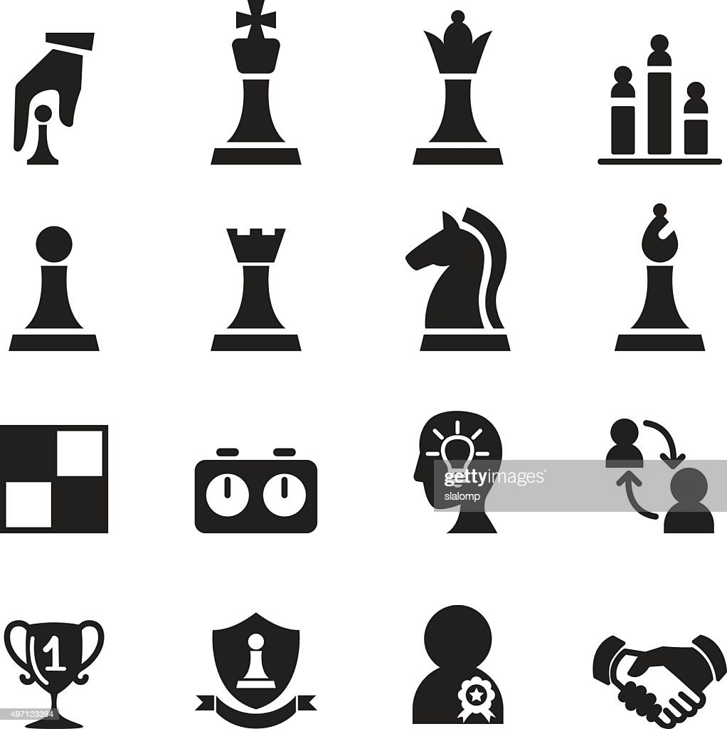 Chess icons set Vector illustration.