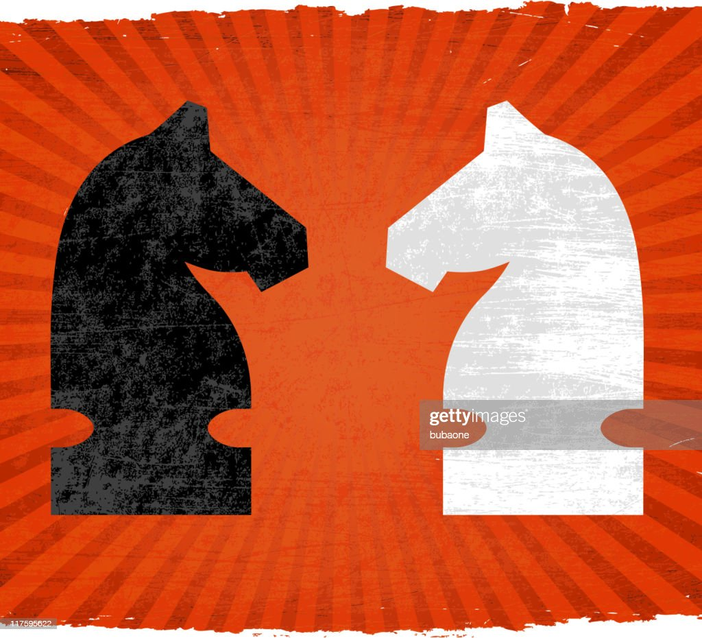 chess match on royalty free vector Background