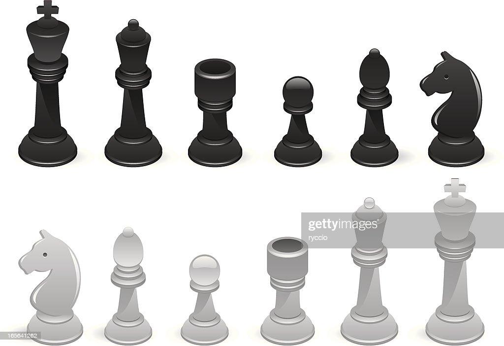 Chess on white