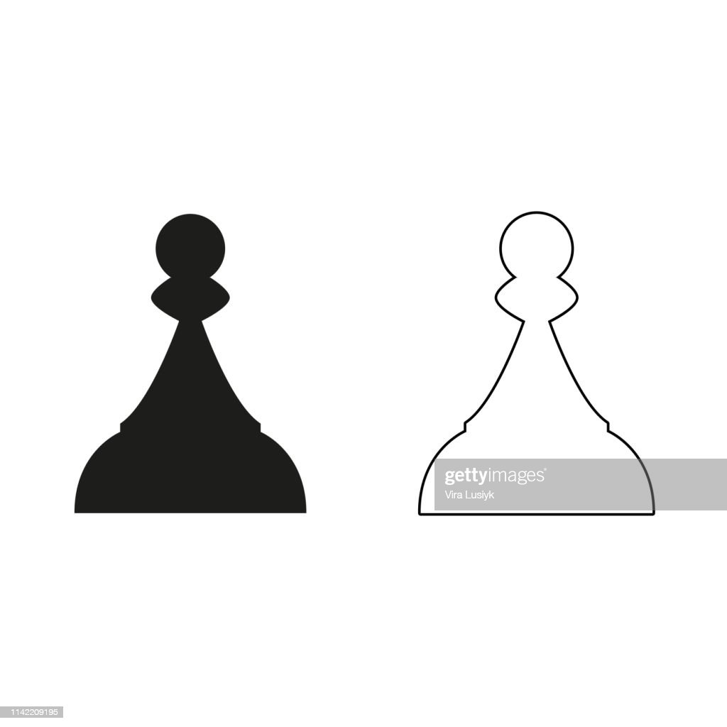 Chess Pawn - green vector icon