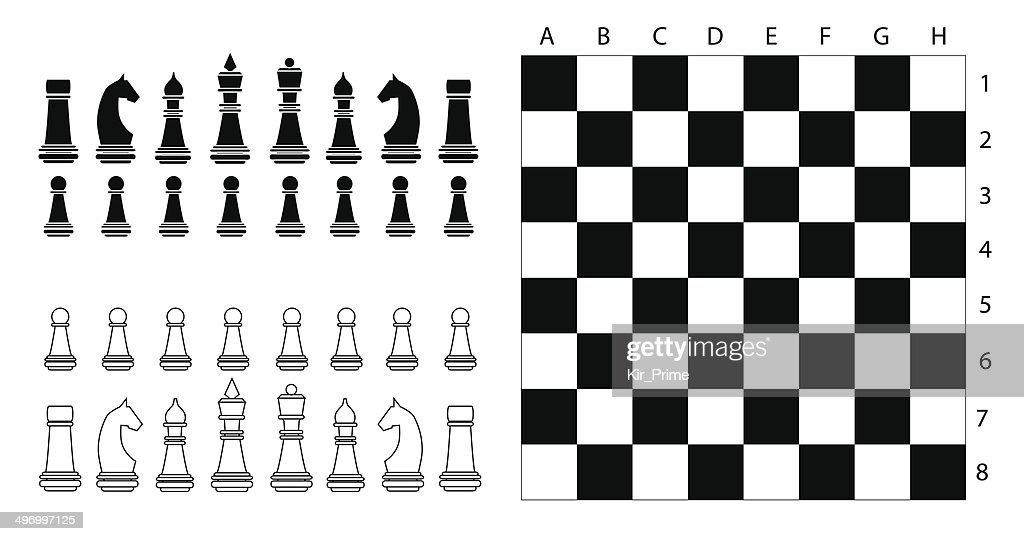 Chess Pieces And Desk Vector Art Getty Images