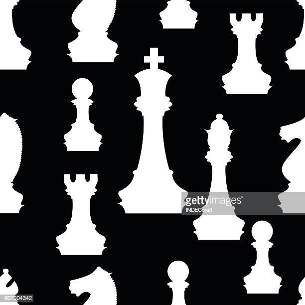 Chess Pieces Seamless Background
