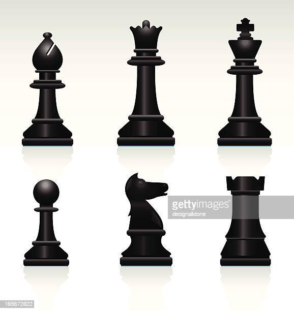 Chess Set: Black