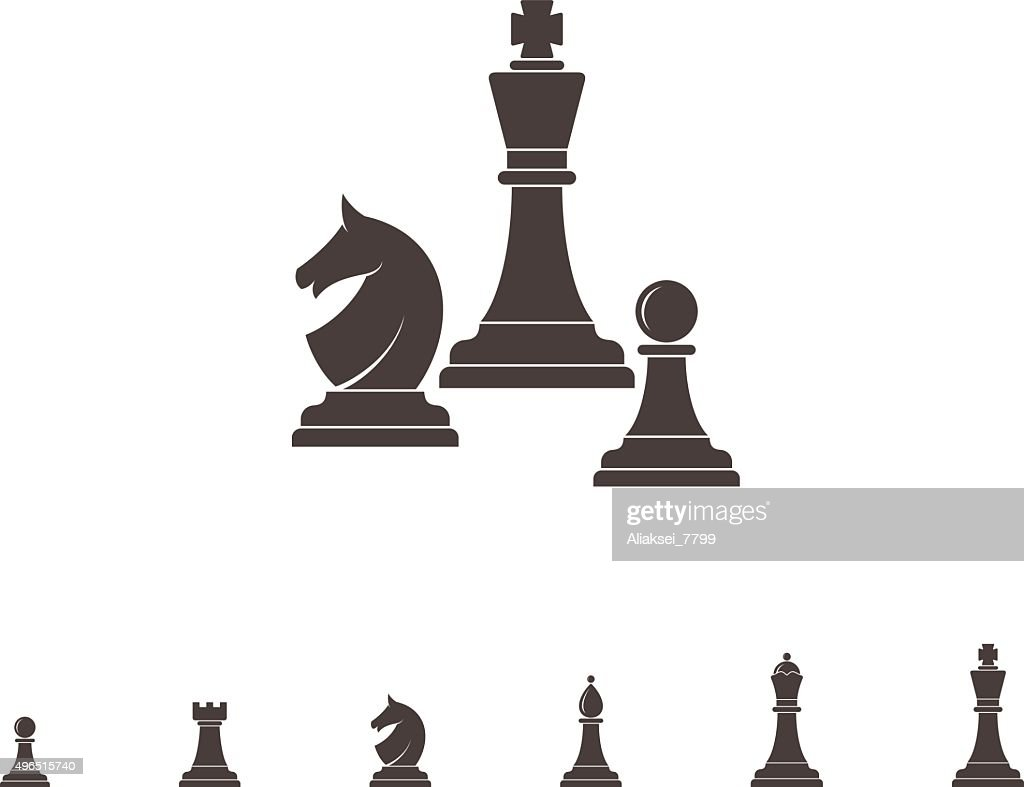 Chess. Silhouette