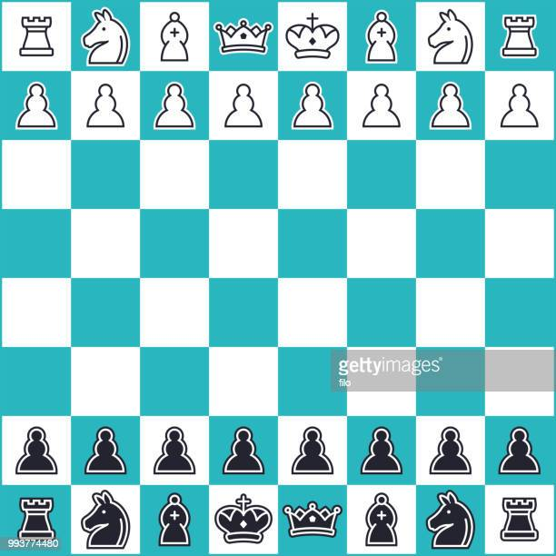 chess - figurine stock illustrations, clip art, cartoons, & icons