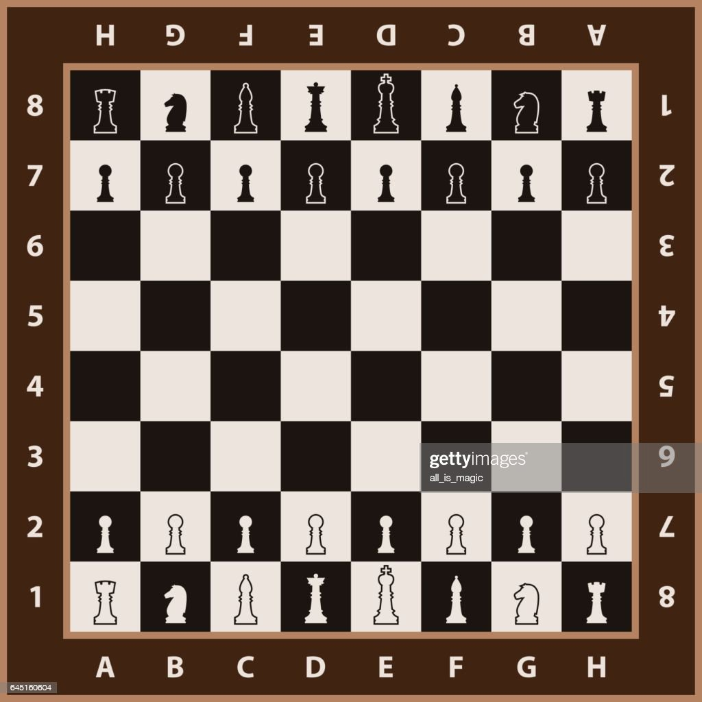 Chessboard background. Chess element on chessboard.