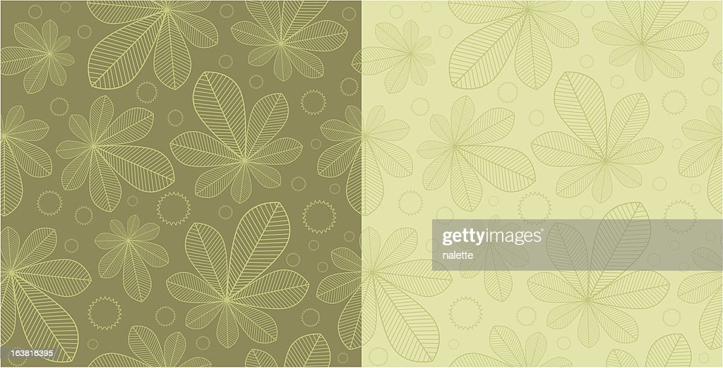 Chestnut seamless background patterns