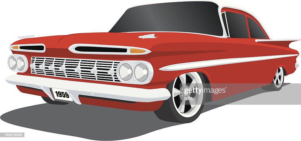 Chevrolet - 1959 Impala : stock illustration